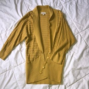 Mustard Yellow Dolman Cardigan Sweater